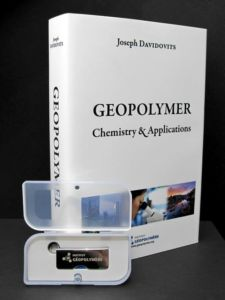 The book Geopolymer Chemistry and Applications with a USB Memory stick.